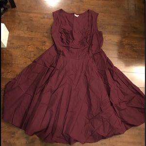 eShakti Burgandy Dress